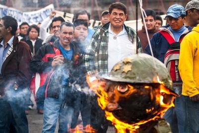 Zocalo, DF, México, 2007. Manifestação contra o governo Calderón.
