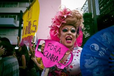 Ato Mulheres Contra Cunha, Av. Paulista, SP, 2015.