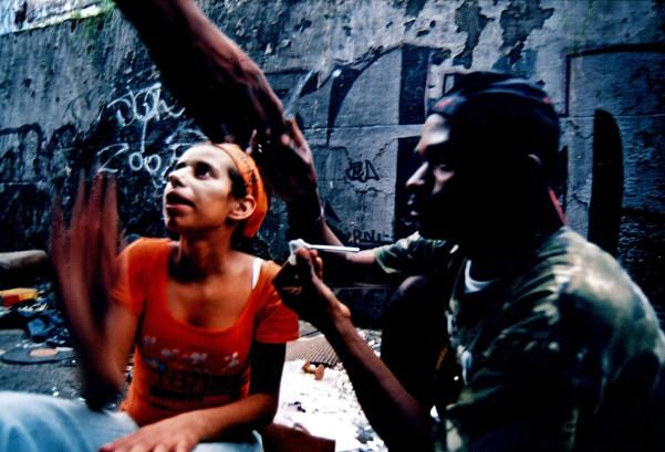Baixada do Glicério, SP, 2005. Negativo cor.