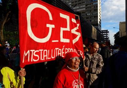 SP, 2016. MTST ocupa o escritório da presidência da república na Av. Paulista, em protesto contra os cortes no programa Minha Casa Minha Vida propostos pelo governo golpista de Michel Temer.