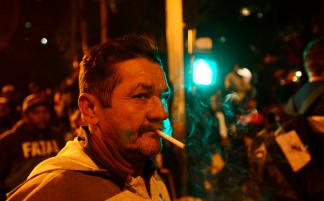 São Paulo, 2016. Ato da Frente Brasil Popular contra o Golpe de Estado em andamento no Brasil.
