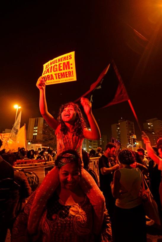 São Paulo, 2016. Dia Nacional das Mulheres Negras. Coletivos feministas e do Movimento Negro protestam contra o governo golpista e seu caráter inerentemente misógino e racista.