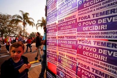 SP, 2016. Ato da Frente Povo Sem Medo no Lg. da Batata. 40.000 pessoas protestam contra o governo ilegítimo e golpista capitaneado por Michel Temer